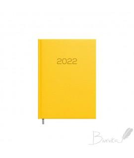 Darbo kalendorius TIMER DAYTIME PRESTIGE 2022, PU, A5, geltonos spalvos