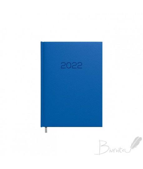 Darbo kalendorius TIMER DAYTIME PRESTIGE 2022, PU, A5, mėlynos sp.
