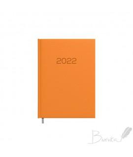 Darbo kalendorius TIMER DAYTIME PRESTIGE 2022, PU, A5, oranžinės spalvos