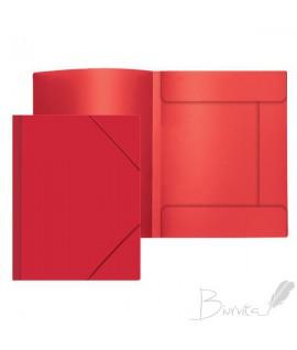 Aplankas dokumentams Attomex Sand, A4, plastikinis, su gumelėmis, raudonos spalvos