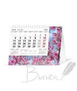 Trikampis pastatomas kalendorius Mobile Serviss Pievos 2022
