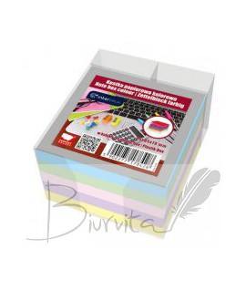 Lapeliai užrašams INTERDRUK, 85 x 85 x 70 mm, spalvoti, dėžutėje