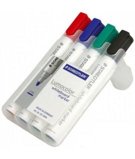 Žymeklių rinkinys STAEDTLER LUMOCOLOR 351, 2 - 5 mm, 4 spalvos