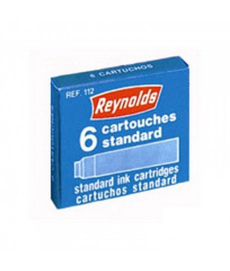 Rašalo kapsulės REYNOLDS, juodos, 6 vnt.