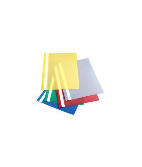 Segtuvėlis A4, skaidriu viršeliu, raudonas