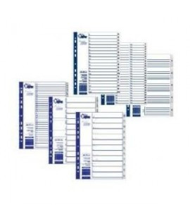 Skirtukai FORPUS A4, 1-6, plastikiniai, numeruoti