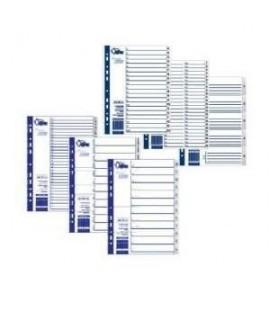 Skirtukai FORPUS A4, 1-20, plastikiniai, numeruoti
