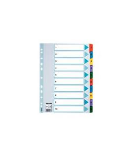 Skirtukai ESSELTE A4, 1-10, spalvoti, kartoniniai