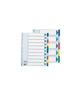 Skirtukai ESSELTE A4,1-10, spalvoti, plastikiniai.