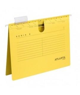 Kartotekinis vokas ATLANTA , A4, su įsegėle, geltonos spalvos
