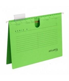 Kartotekinis vokas ATLANTA , A4, su įsegėle, žalios spalvos