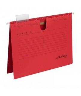 Kartotekinis vokas ATLANTA , A4, su įsegėle, raudonos spalvos