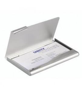 Vizitinių kortelių dėklas DURABLE 90 x 55 mm, 20 kortelių, metalinis