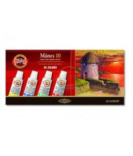 Aliejinių dažų rinkinys KOH-I-NOOR 16 ml., 10 spalvų
