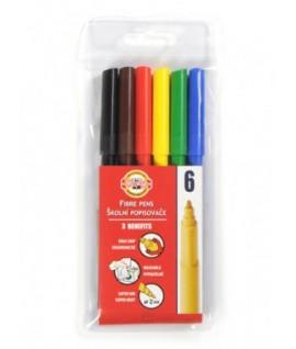 Flomasteriai KOHI-I-NOOR 6 spalvų