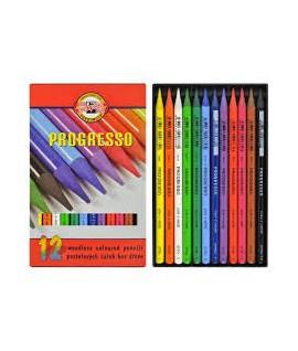 Spalvoti pieštukai KOH-I-NOOR PROGRESSO, 12 spalvų