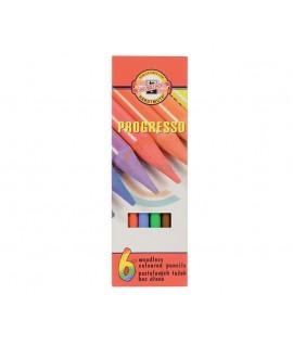 Spalvoti pieštukai KOH-I-NOOR PROGRESSO, 6 spalvos
