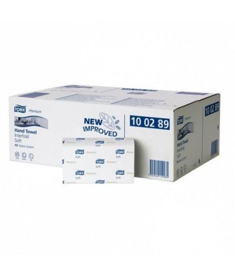 Rankšluostinės servetėlės TORK PREMIUM INTERFOLD SOFT H2 100289