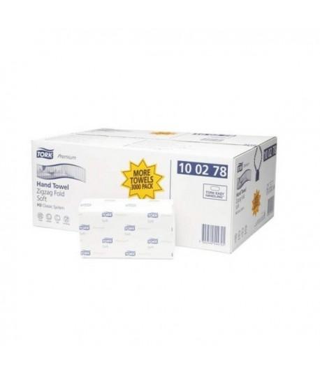 Rankšluostinės servetėlės TORK PREMIUM EXTRA SOFT H3 100278