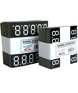 Kainų etiketės KED - 100, (7 x 6,5 cm.)
