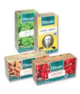 Aromatizuota juodoji arbata DILMAH, braškių skonio, 20 pak.
