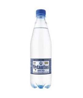 Natūralus mineralinis vanduo VYTAUTAS , gazuotas, 0,5 l