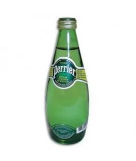 Natūralus mineralinis vanduo PERRIER, lengvai gazuotas, stikliniame buteliuke, 0,33 l