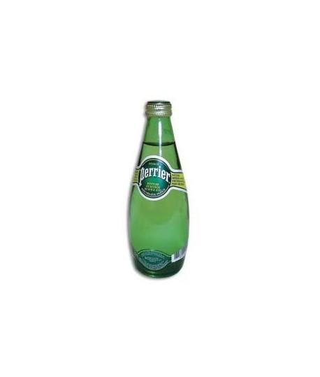 Natūralus mineralinis vanduo PERRIER, gazuotas, stikliniame buteliuke, 0,33 l