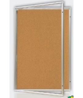Kamštinė lenta rakinama, aliminiu rėmu, GK , 60 x 90 cm.