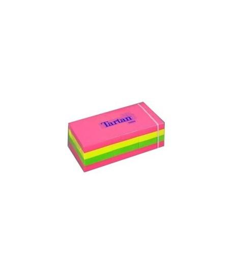 Lipnūs lapeliai TARTAN 38x51mm, neon spalvos, 12 vnt.
