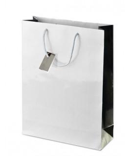 Baltas dovanų maišelis 24,5 x 7,5 x 18,5 cm