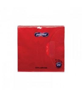 Servetėlės PALOMA EXCLUSIVE 33 x 33 cm, raudonos, 20 vnt.
