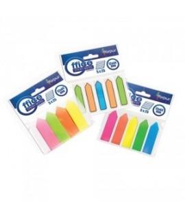 Plastikiniai indeksai- rodyklės FORPUS 42037, 5 neoninės spalvos