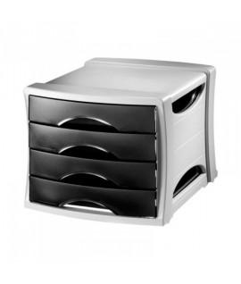 Dokumentų spintelė ESSELTE INTEGO, 4 stalčių, juoda/pilka