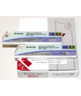 Grafitai automat. pieštukui 0,5 mm 20 vnt. HB MICRO MSL-205