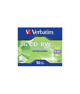 Kompaktinis diskas Vedbatim CD-RW, plonoje dėžutėje