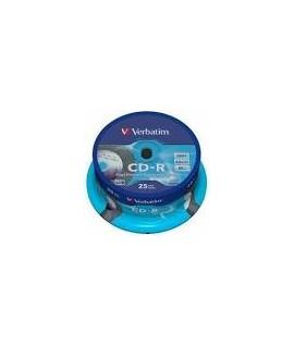 Kompaktinis diskas Verbatim CD-R Printable ( 43439) įpakavime 25 vnt.