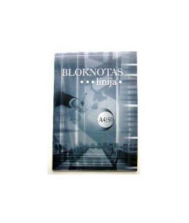 Bloknotas plėšomas A4, 60 lapų, linija