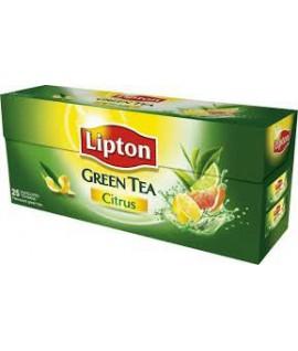 Žalioji arbata LIPTON CITRUS, 25 pak.