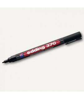 Permanentinis žymeklis EDDING 370, plonu apvaliu galiuku, 1 mmm, juodos spalvos