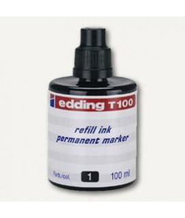 Tušas permanentiniams žymekliams EDDING T100, juodas, 100 ml