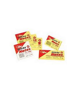 Lipnūs lapeliai FORPUS, 100 x 75 mm, 100 lapelių, geltoni.