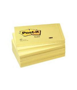 Lpnūs lapeliai POST-IT , 76 x 127 mm, 100 lapelių, geltona