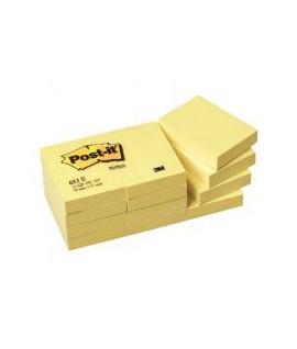 Lipnūs lapeliai POST-IT, 51 x 76 mm, 100 lapelių, geltona