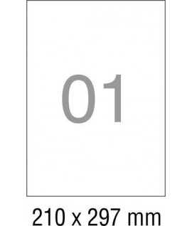 Lipnios etiketės 201 x 297 mm, 100 lapų