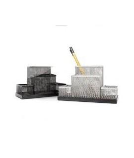 Pieštukinė FORPUS, 4 skyriai, perforuoto metalo, sidabrinė