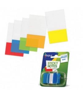 Plastikiniai indeksai- žymekliai FORPUS 42042, 44 x 25 mm, oranžiniai