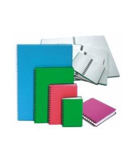 Knygelė užrašams A7, 96 lapai, plastikinis viršelis