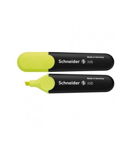 Teksto žymeklis SCHNEIDER JOB, geltonas