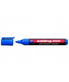 Permanentinis žymeklis EDDING 300, apvalia gal. 1,5 - 3 mm, mėlynos spalvos